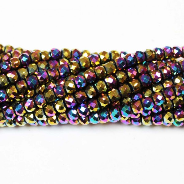 Beads Hematite-faceted 4x3,5mm (1004005G)