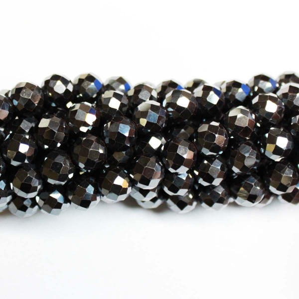 Beads Hematite-faceted 8mm (1008009G)