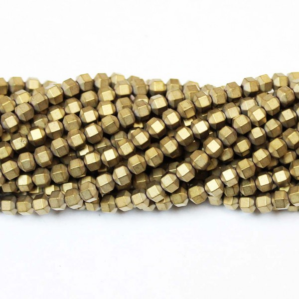 Beads Hematite-frosted 3x3mm (1003005M)