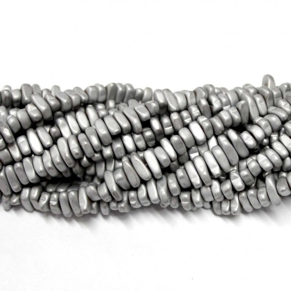 Beads Hematite-frosted ~8x3mm (1008012M)
