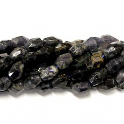 Beads Iolite-faceted 11x8mm (0011003G)