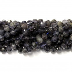 Beads Iolite-faceted 6mm (0006003G)