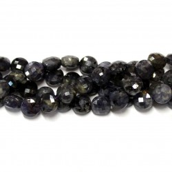Beads Iolite-faceted 8x6mm (0008002G)