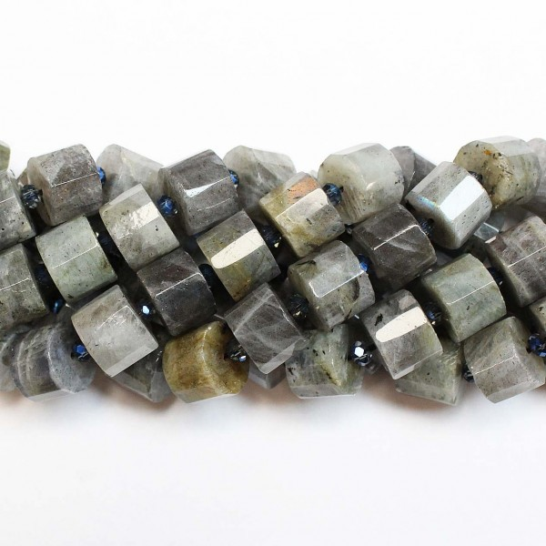 Beads Labradorite-faceted ~12x8mm (1912003G)