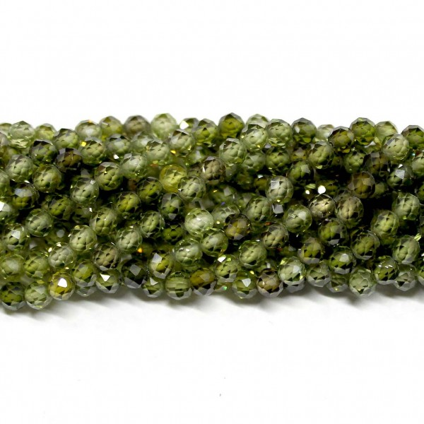 Beads Fianite (cubic zirconia)-faceted 4mm (0004001G)