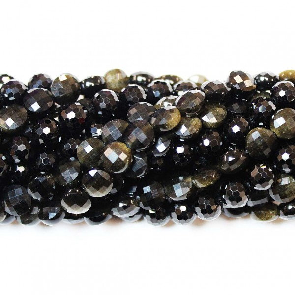 Beads Obsidian-faceted 6,5x4mm (0006002G)