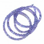 Beads Tanzanite-faceted ~4x2mm (0004010G)
