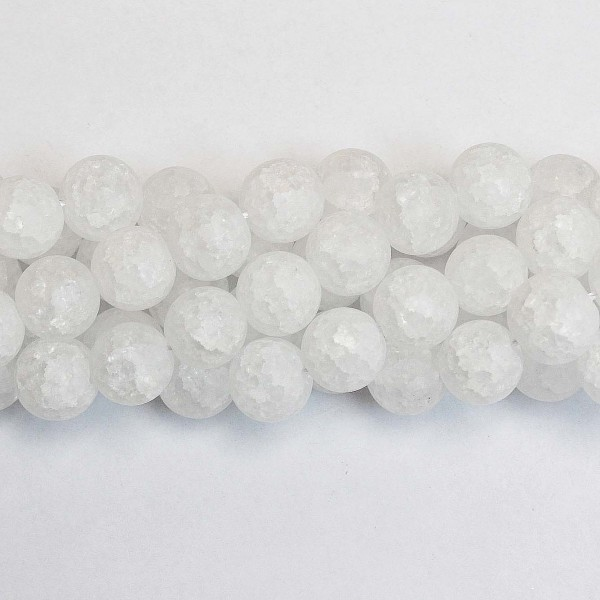 Beads Quartz-crackle frosted 12mm (1612002M)