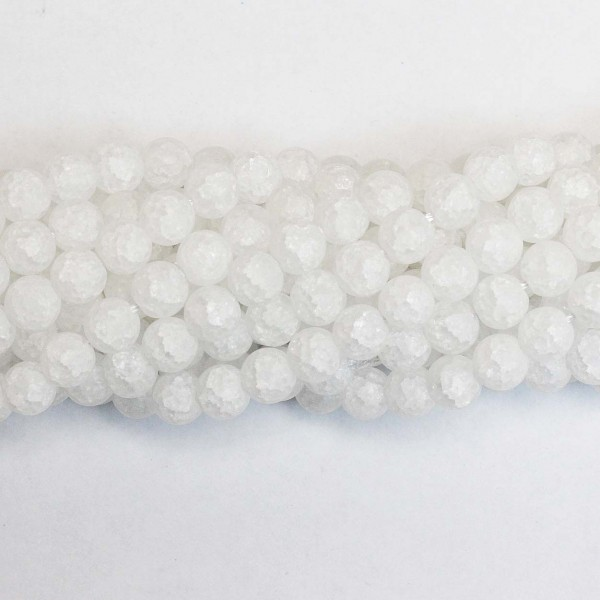 Beads Quartz-crackle frosted 8mm (1608002M)