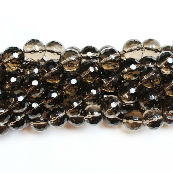 Beads Smoky quartz-faceted 12mm (1612000G)