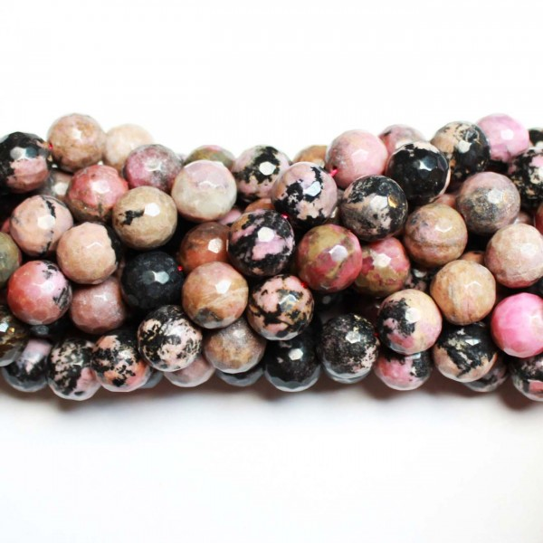 Beads Rhodonite-faceted 12mm (3012000G)