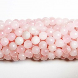 Beads Rose quartz-faceted 10mm (3210000G)