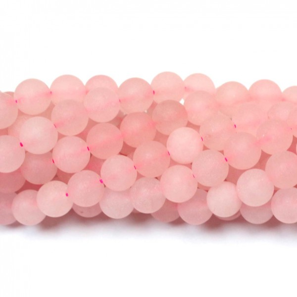 Beads Rose quartz-frosted 8mm (3208000M)