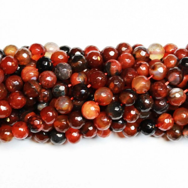 Beads Сarnelian-faceted 8mm (3308000G)