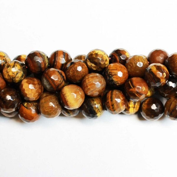 Beads Tiger's Eye-faceted 10mm (3710000G)