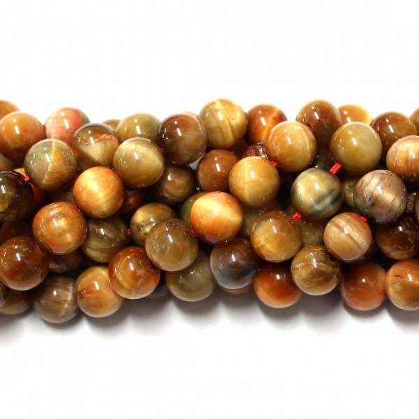 Beads Tiger's eye 9,5mm (3709000)