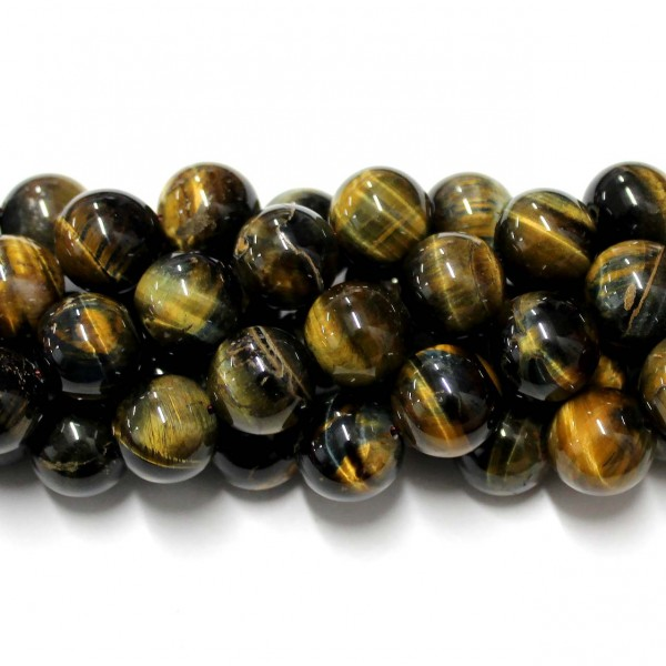 Beads Tiger's eye/Hawk eye 14mm (3714001)