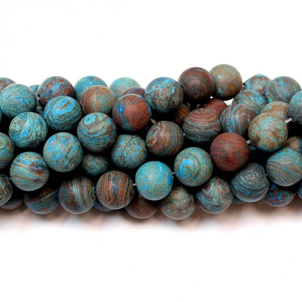 Beads Сhrysocolla-frosted 10mm (4110000M)