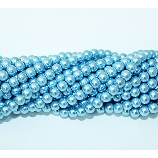 Glass beads (Electroplating) 6mm (4227)