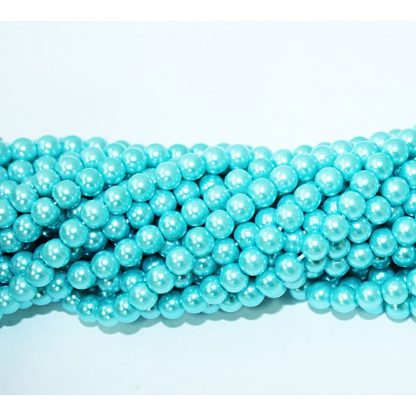 Glass beads (Electroplating) 6mm (4231)