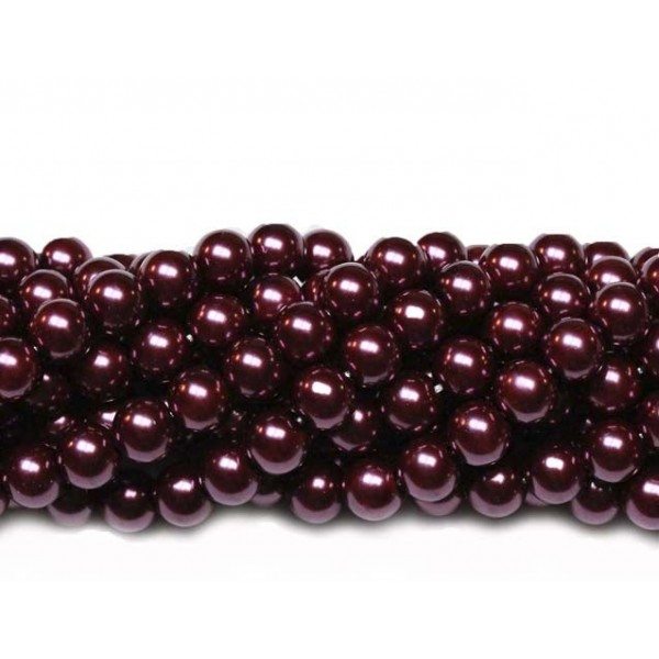 Glass beads (Electroplating) 8mm (4247)