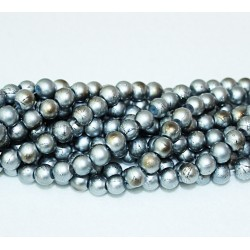 Round beads 8mm -  plastic (50022)