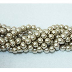 Round beads 8mm -  plastic (50025)