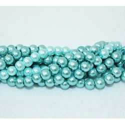Round beads 8mm -  plastic (50028)