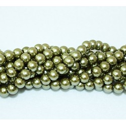 Round beads 8mm -  plastic (50030)