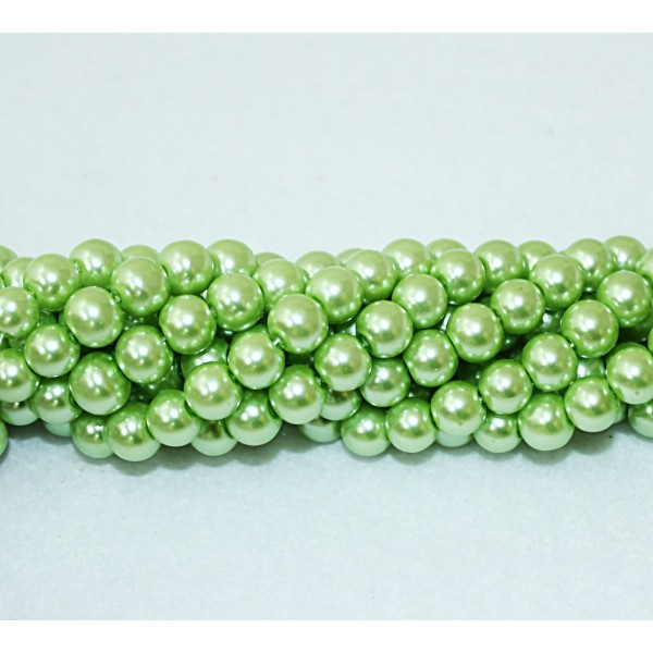 Round beads 8mm -  plastic (50033)