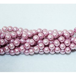 Round beads 8mm -  plastic (50034)