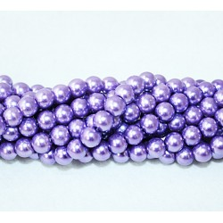 Round beads 8mm -  plastic (50036)