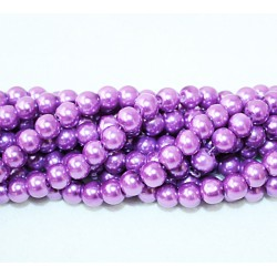 Round beads 8mm -  plastic (50037)