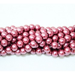 Round beads 8mm -  plastic (50038)