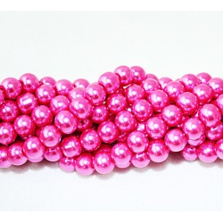 Round beads 8mm -  plastic (50039)