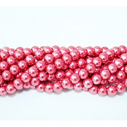 Round beads 8mm -  plastic (50040)