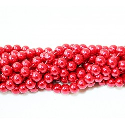 Round beads 8mm -  plastic (50041)