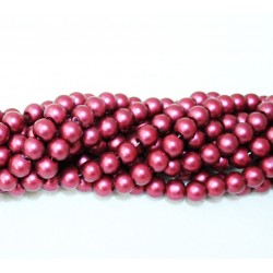 Round beads 8mm -  plastic (50043)