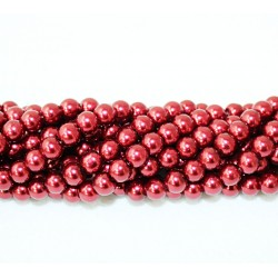 Round beads 8mm -  plastic (50044)
