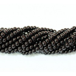 Round beads 5mm -  plastic (50100)