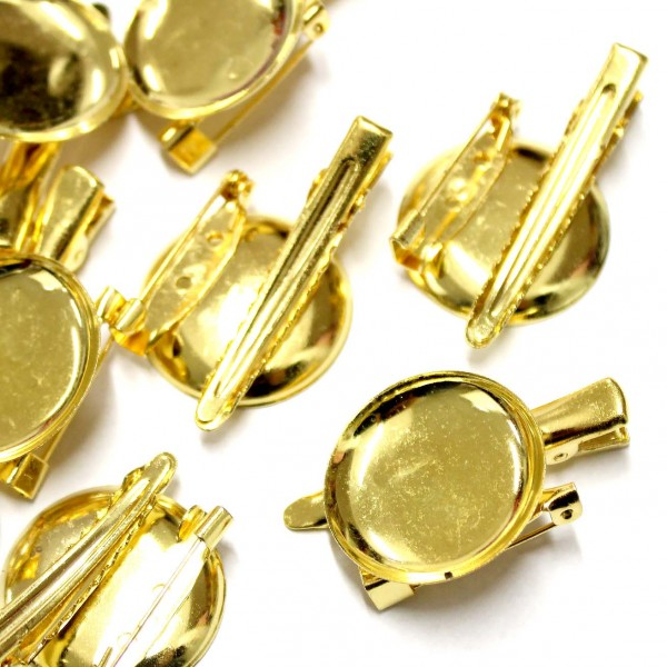 Brooch base 40x25mm 5pcs. (F08M3020)