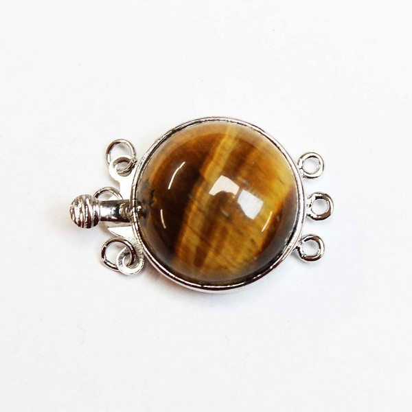 Clasp-Tiger's Eye 26x18mm 1pcs. (F01D1000)