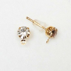 Earring fittings 7x5mm 2pcs. (F02A4013)