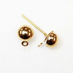 Earring fittings 8x6mm 2pcs. (F02M4009)