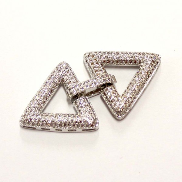 "Clasp with zircons ""LUX"" 23x45mm 1pcs. (F01L1013)"