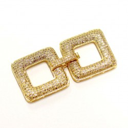 "Clasp with zircons ""LUX"" 24x48mm 1pcs. (F01L3009)"