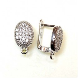 "Earring fittings ""LUX"" 15x9mm 2pcs. (F02L1239)"