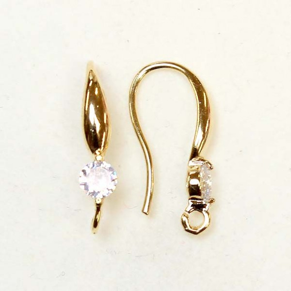"Earring fittings ""LUX"" 20x3mm 2pcs. (F02L3323)"