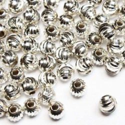 Silver spacer 5mm 1pcs. (504FS)