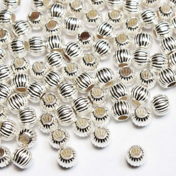 Silver spacer 4mm 1pcs. (508FS)